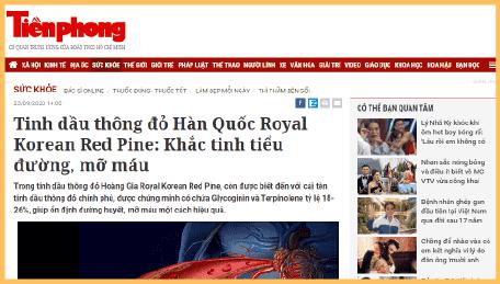 Thông tin tinh dầu thông đỏ trên báo chí